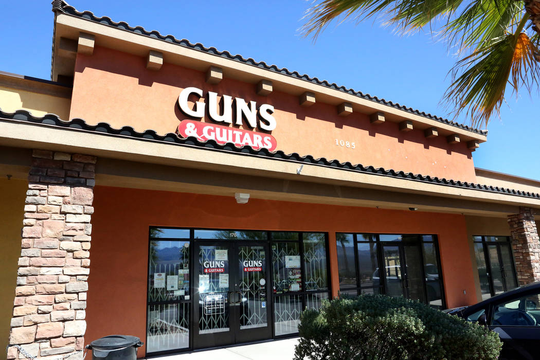 Guns & Guitars in Mesquite on Monday, Oct. 2, 2017, where alleged Strip gunman Stephen Paddock had been known to shop. (Michael Quine/Las Vegas Review-Journal) @Vegas88s