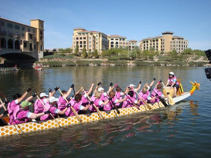 Dignity Health The Rose Regatta Dragon Boat Festival will be held at Lake Las Vegas Marina to benefit St. Rose Dominican Hospitals' R.E.D. Rose program and WomensCare Centers of Excellence breas ...