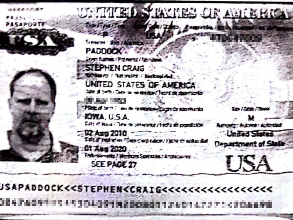 Stephen Paddock passport photo. ABC News