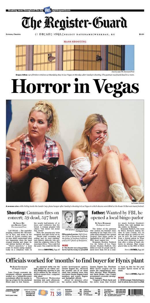 newspapers around world covered las vegas shootings