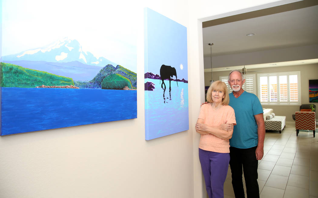 Alan and Roma Haynes have plenty of room for his artwork in their 2,870-square-foot Pardee Home in the gated Encanto neighborhood in southwest Las Vegas. (Pardee)