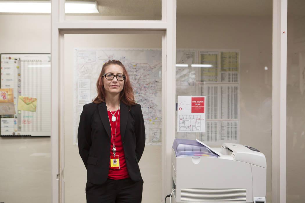 Clark County School District school psychologists salary Wendy Sebek on Wednesday, Oct. 4, 2017. (Bridget Bennett/Las Vegas Review-Journal) @BridgetKBennett