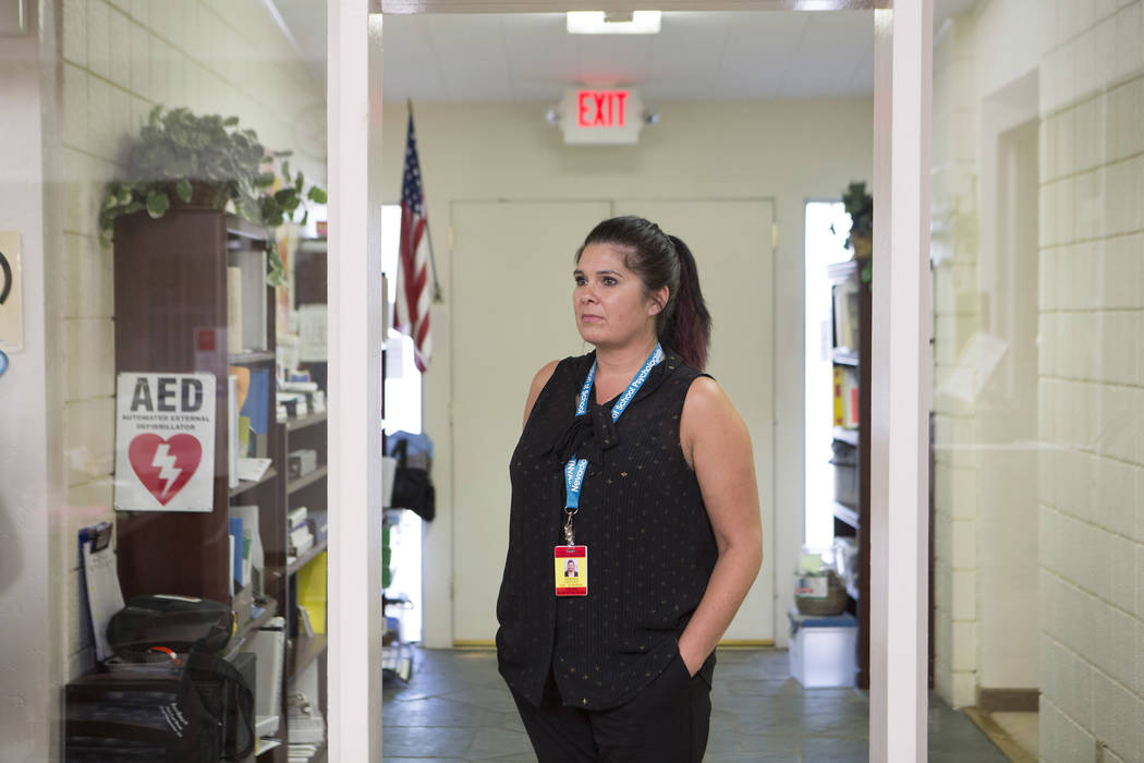 Clark County School District school psychologist Teresa Chavez, Wednesday, Oct. 4, 2017. (Bridget Bennett/Las Vegas Review-Journal) @BridgetKBennett