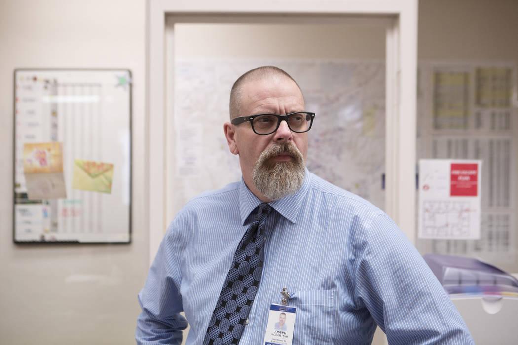 Joe Roberts, coordinator of Clark County School District's Student Threat Evaluation and Crisis Response, Wednesday, Oct. 4, 2017. (Bridget Bennett/Las Vegas Review-Journal) @BridgetKBennett