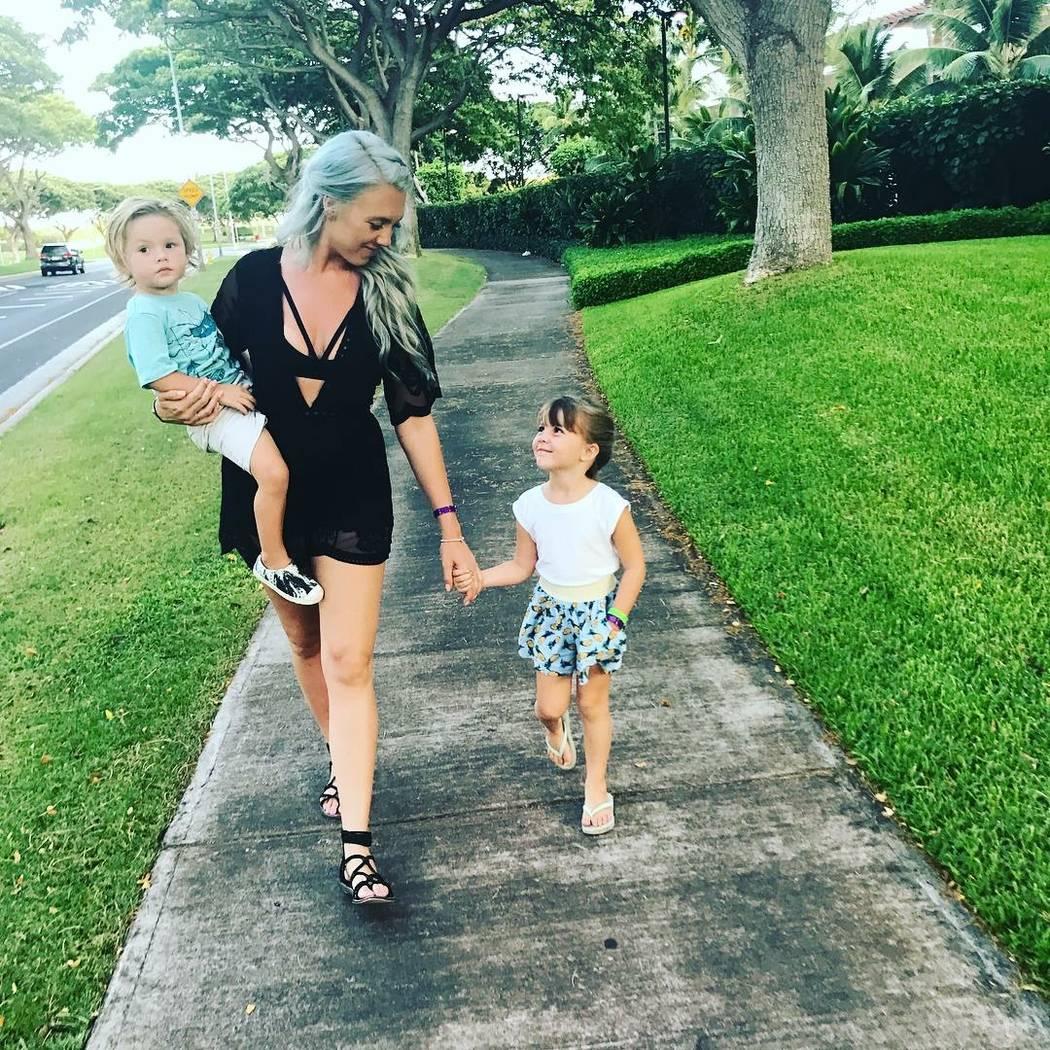 Keri Lynn Galvan and two of her three children Family photo