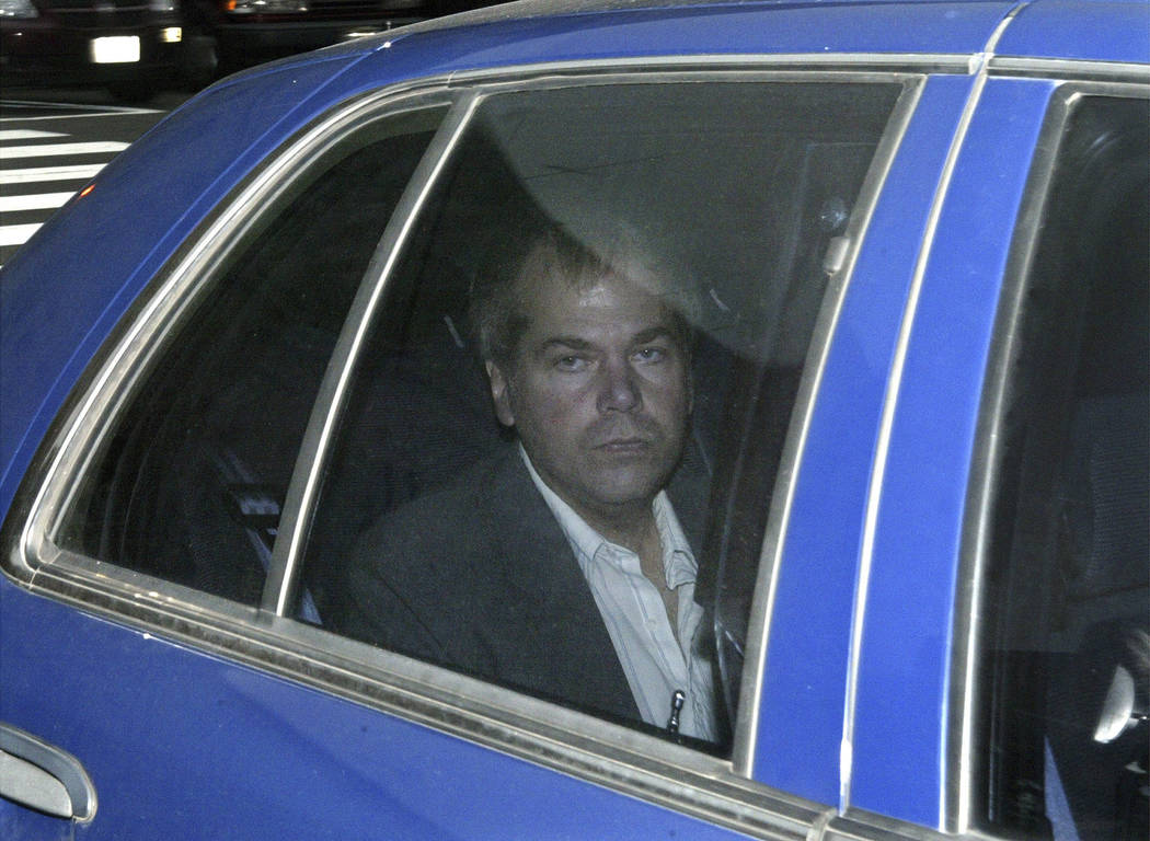FILE - In this Nov. 18, 2003, file photo, John Hinckley Jr. arrives at U.S. District Court in Washington. A judge who ruled that would-be Ronald Reagan assassin John Hinckley Jr. should be allowed ...