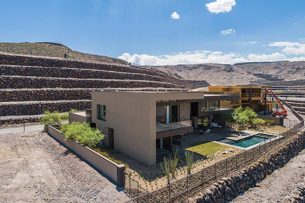 The landscape and house were designed by the Los Angeles-based design-build firm Marmol Radziner, known for their high-end residential creations. (Ascaya)