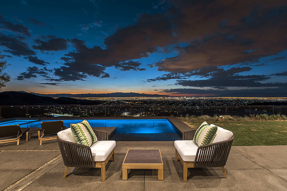 The home has sweeping views of the Las Vegas Valley. (Ascaya)