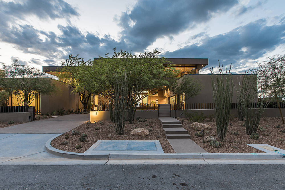 Los Angeles-based design-build firm Marmol Radziner also designed the home's landscaping. (Ascaya)