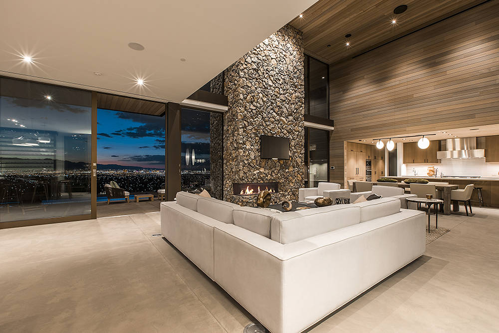 The living room opens to a patio. (Ascaya)