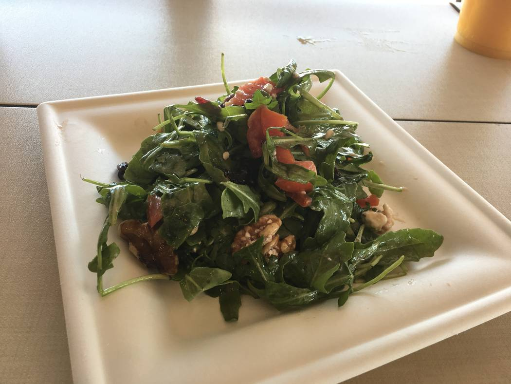 An arugula salad served at Tipp's Cafe. (Diego Mendoza-Moyers/View) @dmendozamoyers