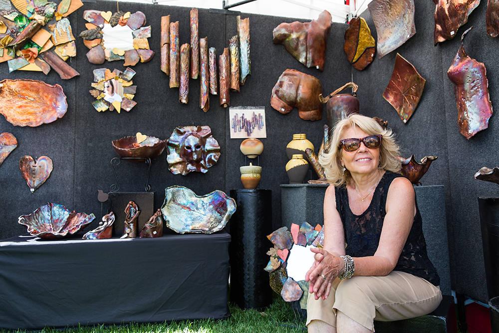 An artist shows off her creations. (Summerlin)