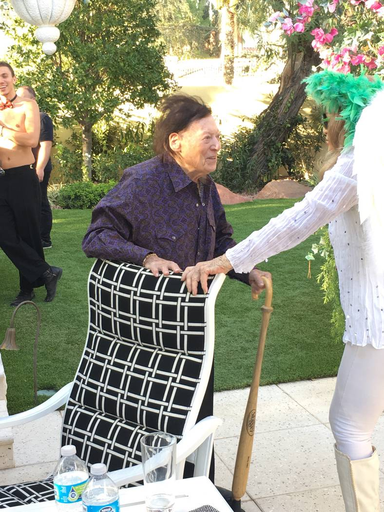 """Comedy legend Marty Allen is show at Frank Marino's home in Las Vegas on Sunday, Oct. 1, 2017 for the upcoming British TV series """"Last Laugh in Vegas,"""" focussing on eight British showbiz legends l ..."""