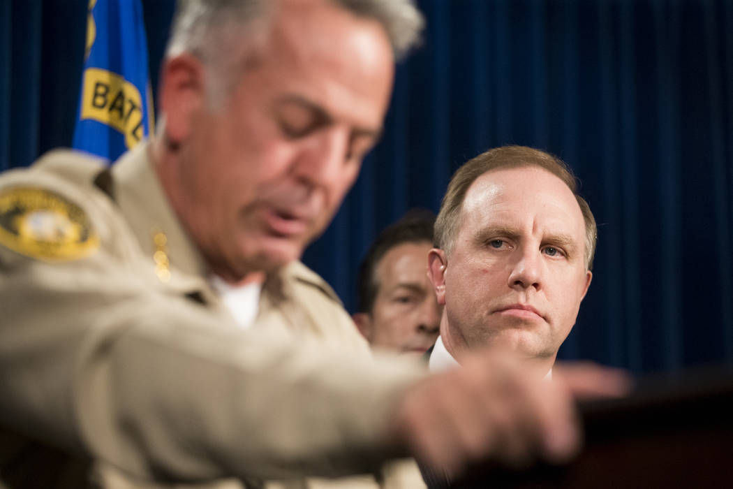 Aaron C. Rouse, special agent in charge for the FBI in Nevada, during a press conference on the mass shooting, at the Las Vegas Metropolitan Police Department headquarters in Las Vegas, Wednesday  ...