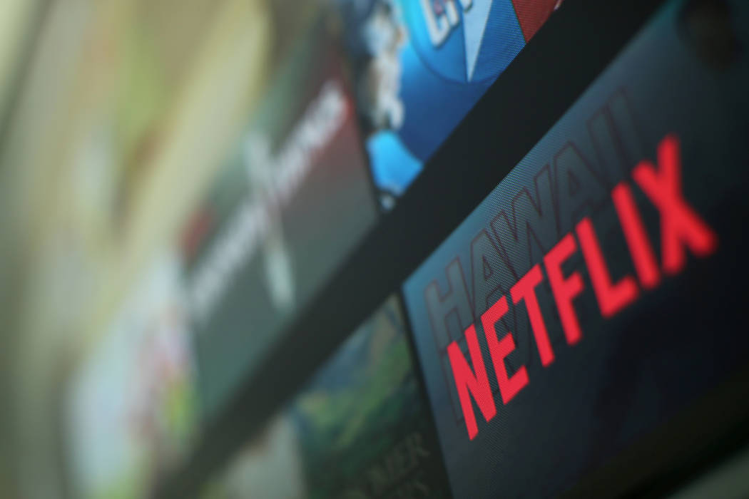 The Netflix logo is pictured on a television in this illustration photograph taken in Encinitas, California, January 18, 2017. (Mike Blake/Reuters)