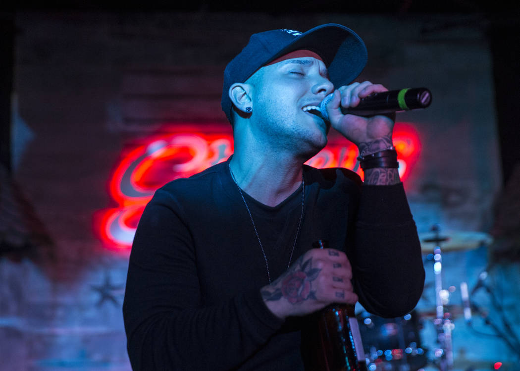 Carter Winter performers during a benefit show for the victims of the Route 91 shooting at Stoney's Rockin' Country on Wednesday, October 4, 2017, in Las Vegas. (Benjamin Hager/Las Vegas Review-Jo ...