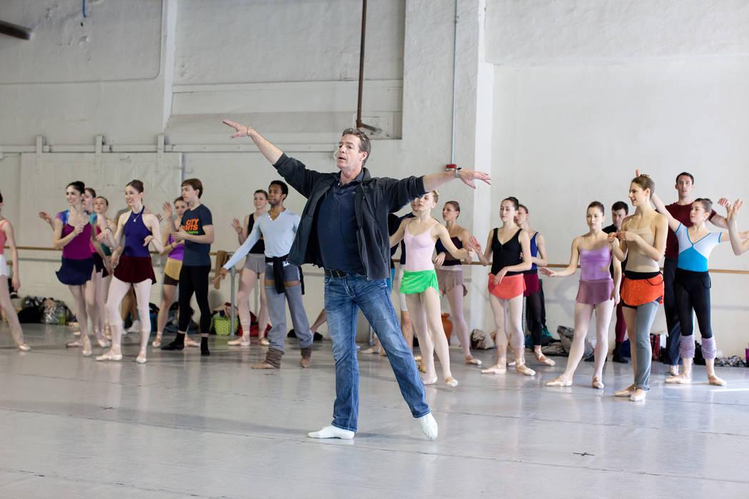 Roy Kaiser with Pennsylvania Ballet Dancers. Photo by Alexander Iziliaev