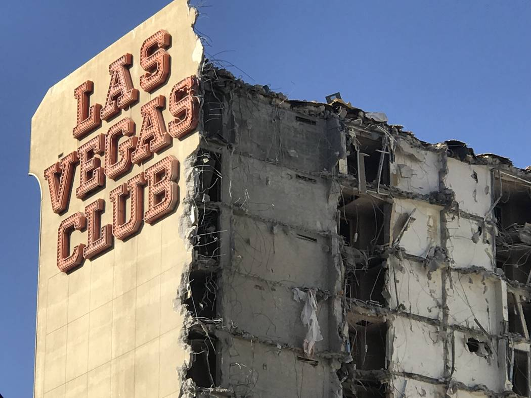 The old Las Vegas Club building is seen on Thursday Oct. 5, 2017.The owners of downtown's D Las Vegas and Golden Gate properties are beginning the process to turn the old Las Vegas Club into a new ...