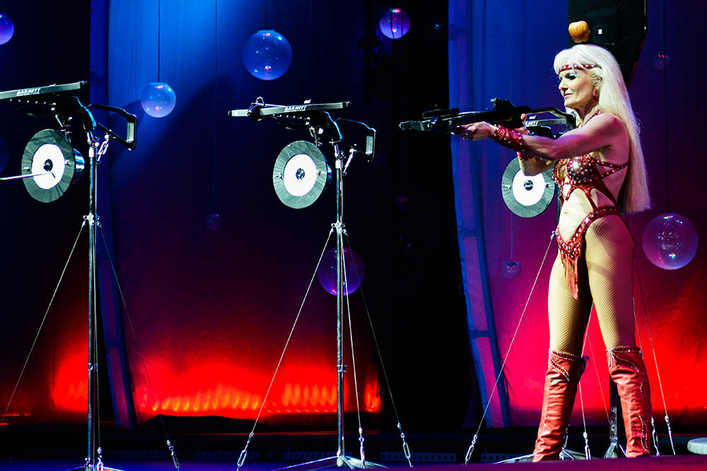 "Archer Silvia Silvia performs death-defying feats in ""World of Wonder,"" a new show at the Rio. (Courtesy)"