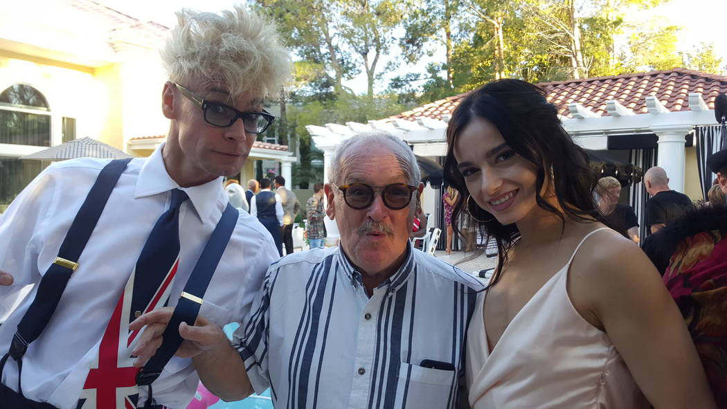 """Murray SawChuck and """"America's Got Talent"""" alumni Emily England (half of the roller skating act Billy & Emily at """"Absinthe"""") made a big splash at a surprise party set in Frank Marino ..."""