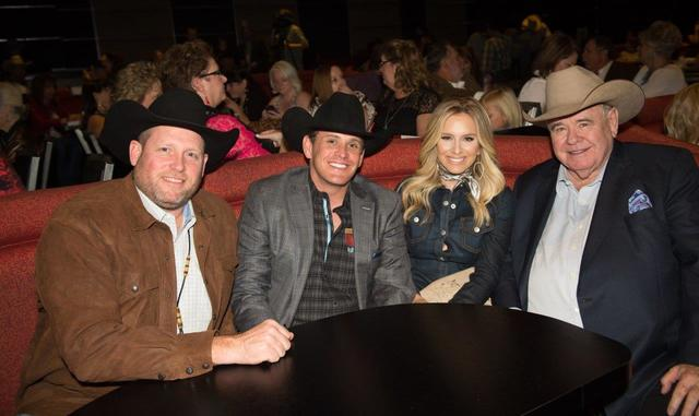 PBR CEO Sean Gleason, South Point GM Ryan Growney, country singer Sierra Black and South Point owner Michael Gaughan. (Tom Donoghue)