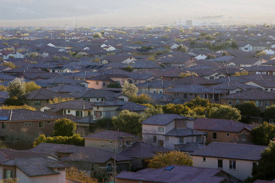 The inventory of available houses in Las Vegas was down in September and prices climbed above last year's levels. (Bridget Bennett/Las Vegas Review-Journal) @bridgetkb