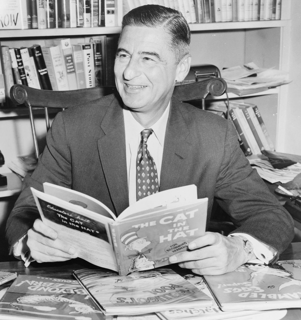 Theodore Geisel, aka Dr. Seuss, in 1957.