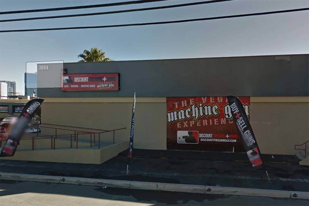 Stephen Paddock, the gunman in the mass shooting on the Las Vegas Strip, bought two rifles and a handgun at Discount Firearms & Ammo LLC in Las Vegas in 2016. (Google Street View)