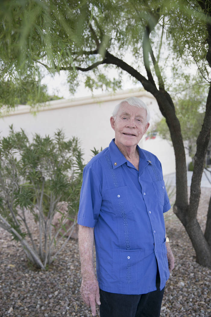 Dennis Ortwein, who is one of four people who will have new elementary schools named after them, at his home in Summerlin,  Las Vegas, on Wednesday, Sept. 13, 2017. Ortwein has lengthy history in  ...