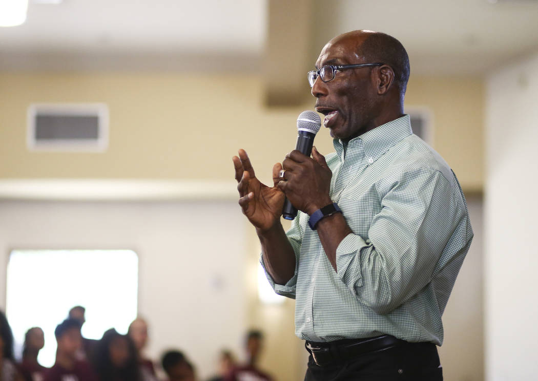 The Rev. Ralph E. Williamson speaksduring a healing through celebration event at First African Methodist Episcopal Church in North Las Vegas on Sunday, Oct. 8, 2017. Chase Stevens Las Vegas Review ...