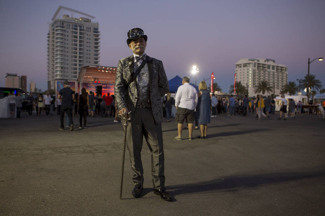 Doc Phineas at First Friday in Las Vegas, Friday, Oct. 6, 2017. This is the 15th anniversary of First Friday downtown Las Vegas. Bridget Bennett Las Vegas Review-Journal @Bridgetkbennett