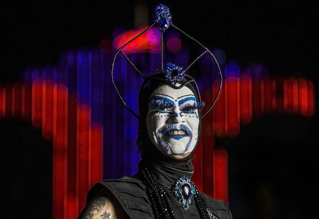 "Tracy Skinner, ""Mother Loosy Lust Bea Lady,"" outside The Space during ""Project Nunway,"" a fundraiser fashion show for The Holy Order Sin Sity Sisters of Perpetual Indulgence benefiting its AIDS dr ..."