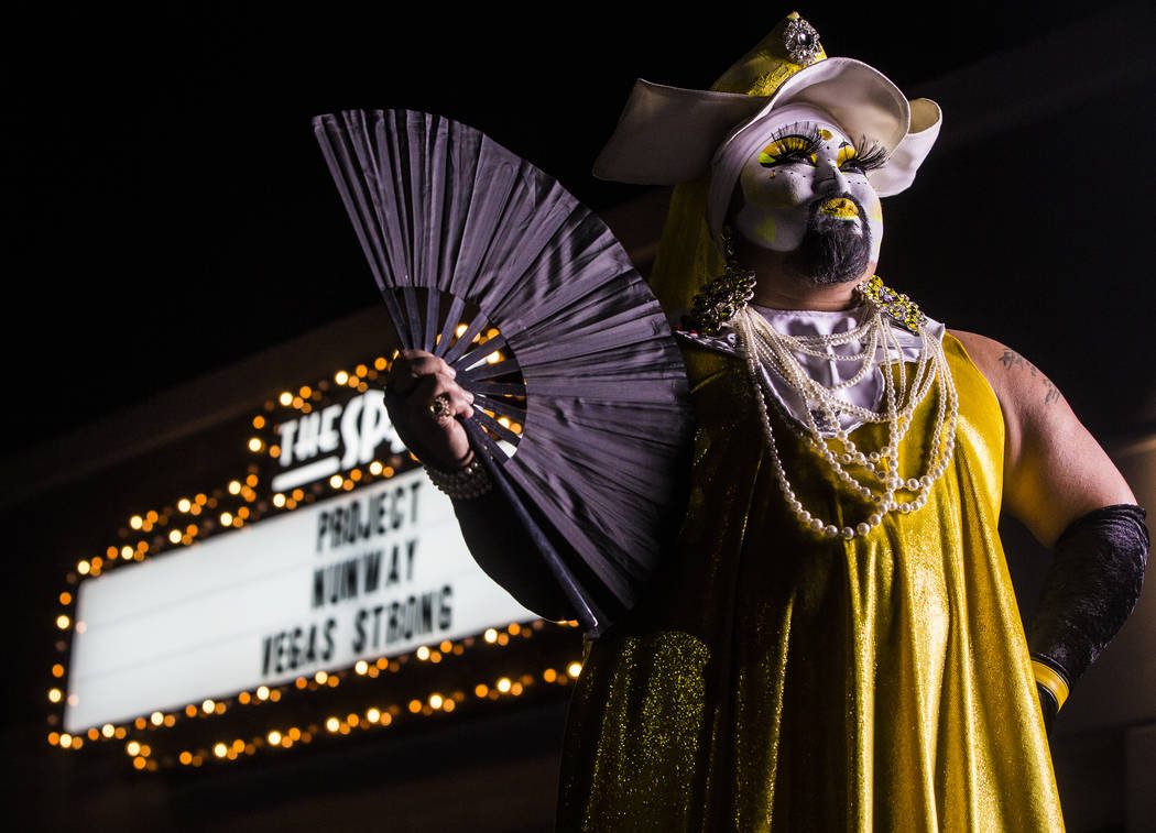 "Sister Ema outside The Space during ""Project Nunway,"" a fundraiser fashion show for The Holy Order Sin Sity Sisters of Perpetual Indulgence benefiting its AIDS drug assistance program on Saturday, ..."