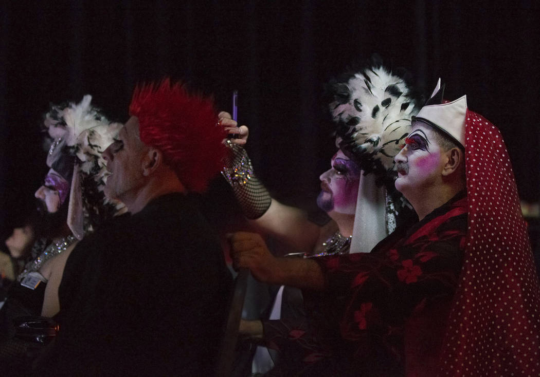 "Guests watch ""Project Nunway,"" a fundraiser fashion show for The Holy Order Sin Sity Sisters of Perpetual Indulgence benefiting its AIDS drug assistance program on Saturday, October 7, 2017, at Th ..."