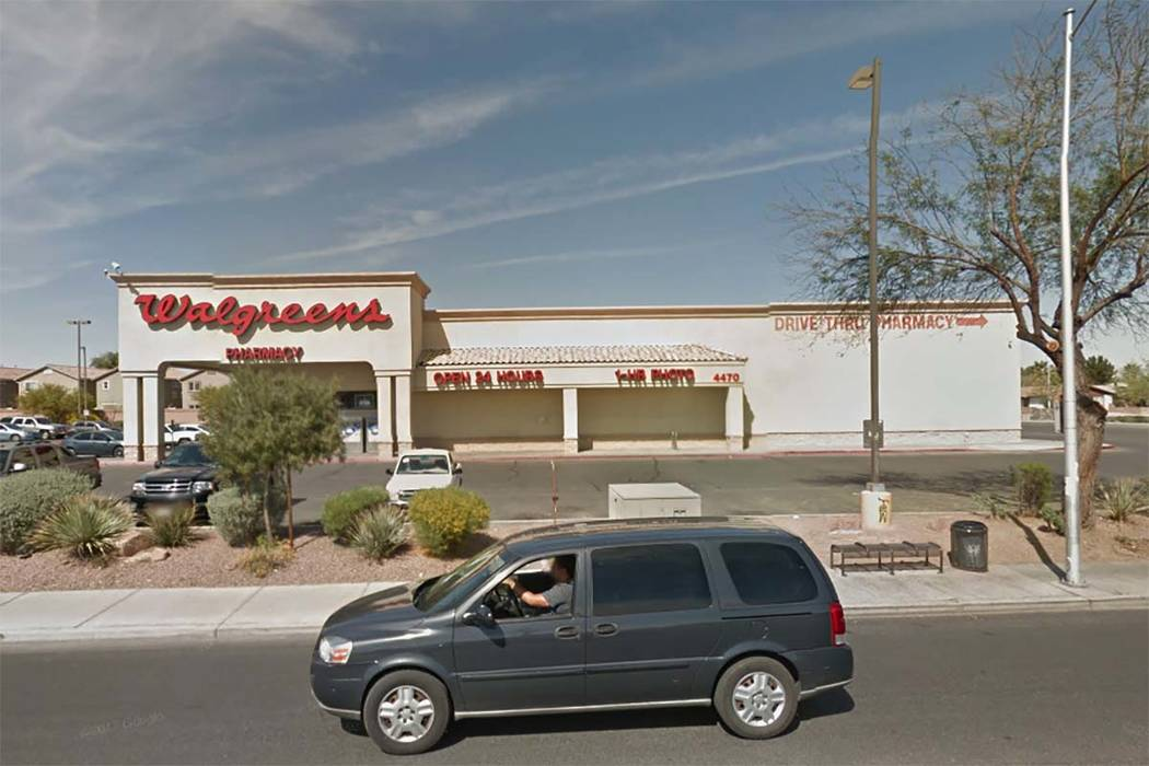 Walgreens at 4470 E. Bonanza Road early Thursday, Sept. 28, 2017. (Google Street View)