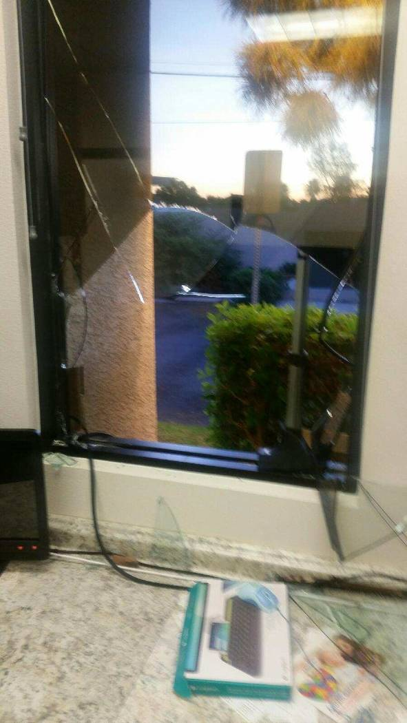 A look at the damage of a break-in at Easterseals Nevada on West Charleston Boulevard on Monday, Oct. 9, 2017. (Easterseals Nevada)