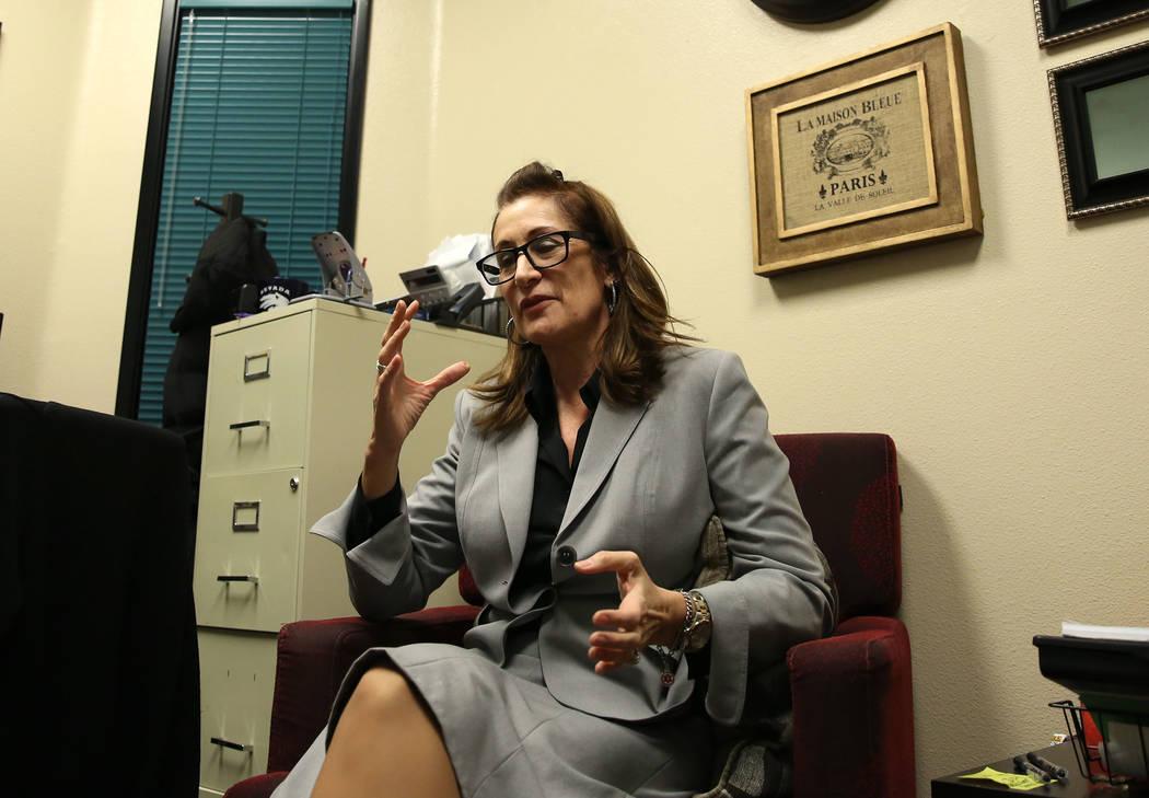 Trudy Gilbert-Eliot speaks during an interview at her Las Vegas office on Tuesday, Oct. 10, 2017. Bizuayehu Tesfaye Las Vegas Review-Journal @bizutesfaye