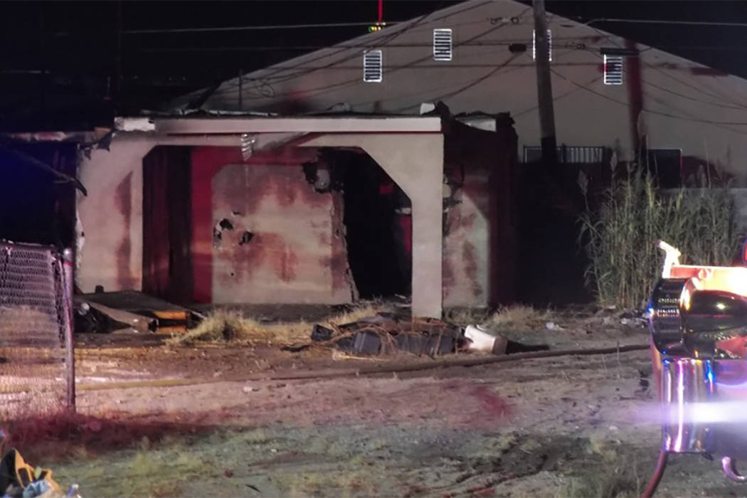 No injuries were reported at a vacant house fire in central Las Vegas on Monday night (Max Michor/Las Vegas review-Journal)