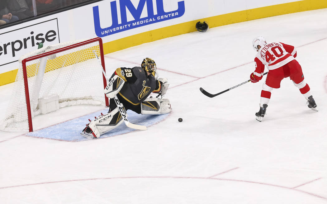Vegas Golden Knights goalie Marc-Andre Fleury was placed on injured reserve Sunday after suffering a concussion in Friday's 6-3 loss to the Detroit Red Wings at T-Mobile Arena in Las Vegas, Friday ...