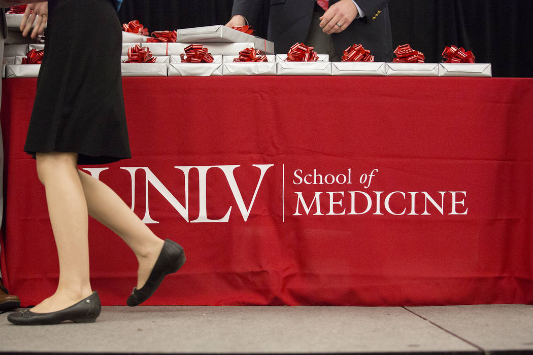 UNLV's inaugural class of medical students received their stethoscope at UNLV in Las Vegas on Monday, July 17, 2017. (Bridget Bennett/Las Vegas Review-Journal) @bridgetkbennett