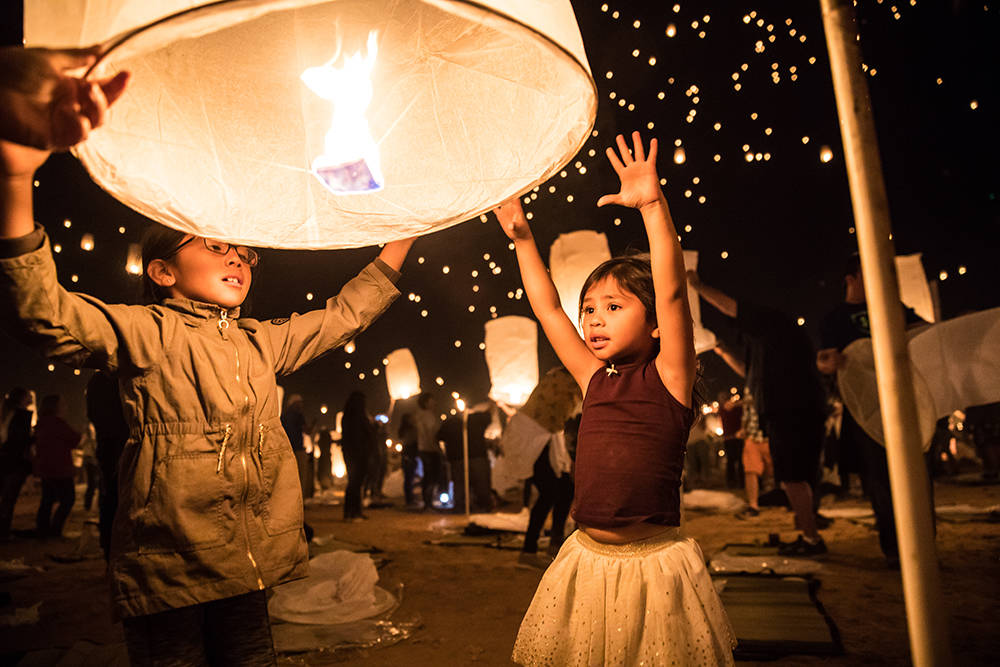 The RiSE Lantern Festival was held in the Mojave Desert north of Las Vegas. This year's festival was particularly special, as many were able to honor those in the wake of the Las Vegas gun massa ...