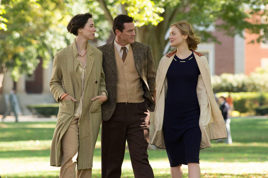 "Rebecca Hall stars as Elizabeth Marston, Luke Evans as Dr. William Marston and Bella Heathcote as Olive Byrne in ""Professor Marston and The Wonder Women,"" an Annapurna Pictures release. Claire ..."