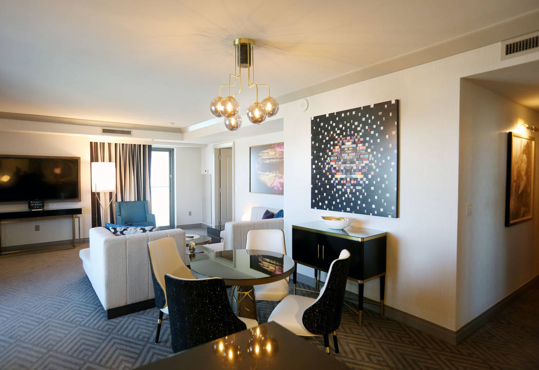 A newly renovated wraparound Terrace Suite at The Cosmopolitan of Las Vegas in Las Vegas, Tuesday, Oct. 10, 2017. Elizabeth Brumley Las Vegas Review-Journal @EliPagePhoto