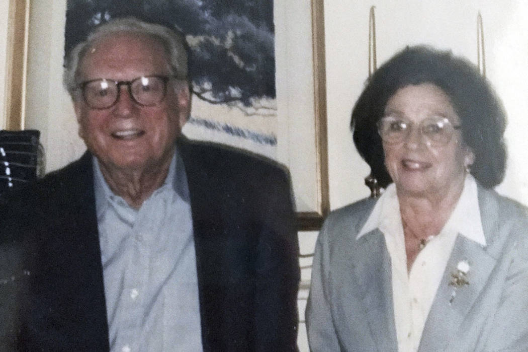 This undated photo provided by their son Michael Rippey shows Charles and Sara Rippey. Charles, 100, and Sara, 98, were unable to leave their Napa, Calif., home, and died when the Tubbs fire swept ...