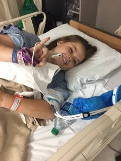 Paige Gasper, 21, was shot in her right side at Route 91 Harvest festival Oct. 1. Courtesy to Las Vegas Review-Journal.
