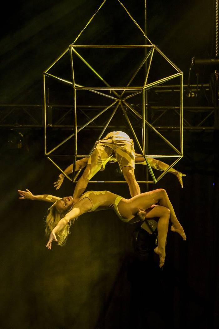 "Photo credit: Jerry Metellus Photography Act: ""Joy"" (Group Aerial Performance); Performers:  Ben Lerman, Alyssa Gray"
