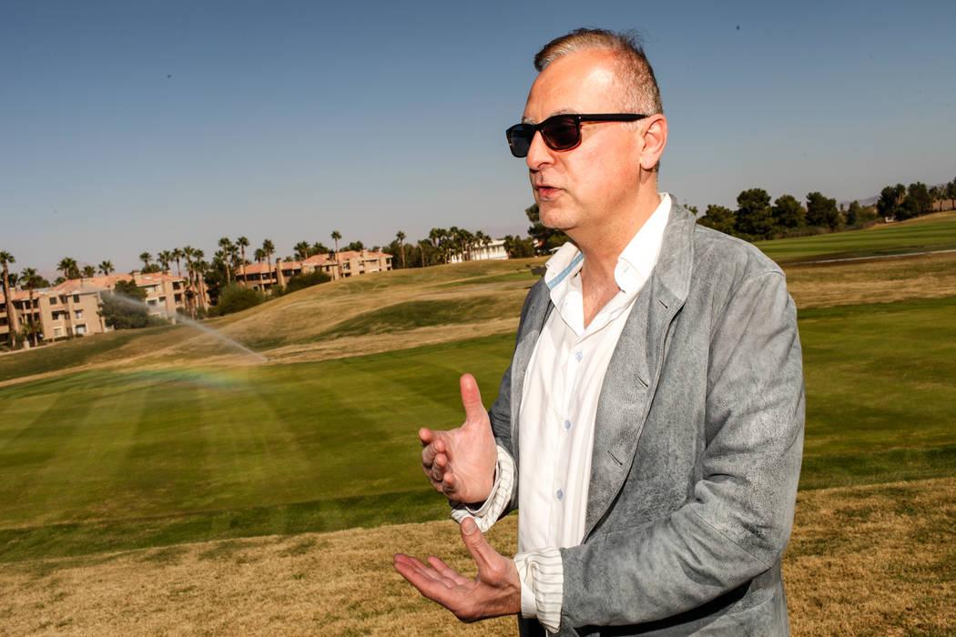 Par Excellence Drive Trust, LLC co-owner Eddie Haddad stands at Legacy Golf Club in Henderson, Thursday, Oct. 12, 2017. Joel Angel Juarez Las Vegas Review-Journal @jajuarezphoto