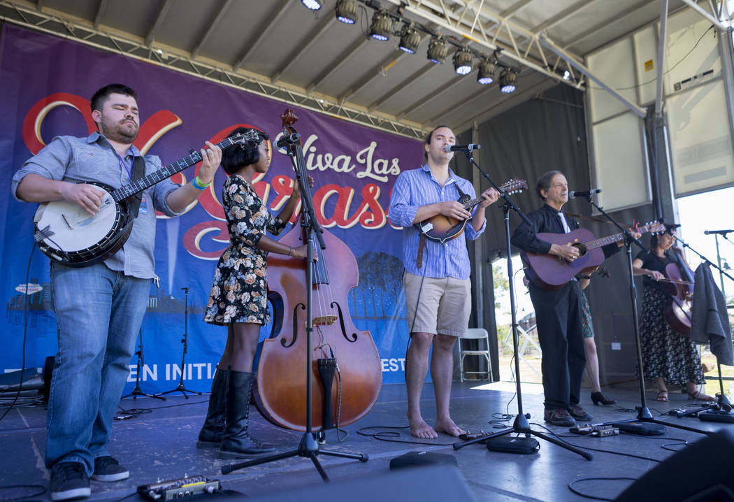 Cisco & The Racecars preform during the first annual Green Initiative Bluegrass Festival at Craig Ranch Park in North Las Vegas, Sunday, Oct. 15, 2017. Elizabeth Brumley Las Vegas Review-Journ ...