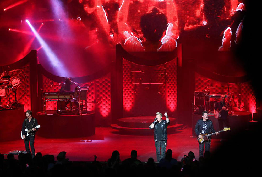 "Rascal Flatts kicks off its eight-show run of ""A Night to Shine"" at the Venetian Theater. (Courtesy)"