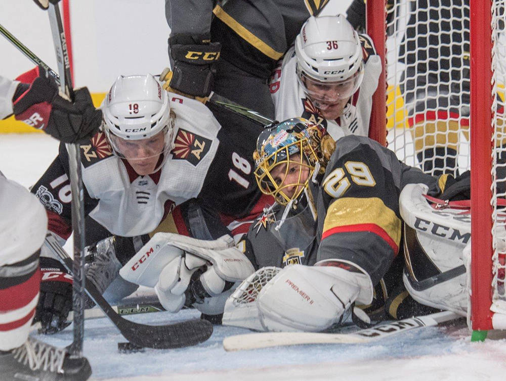 Vegas Golden Knights made NHL history last night (Oct. 10) as the first team ever to open its inaugural season with a 3-0 streak of wins. (Tom Donoghue)